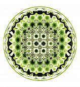 Green Circular Kaleidoscope