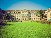 Retro Look Neues Schloss (new Castle), Stuttgart