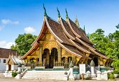 picture of thong  - Wat Xieng Thong Buddhist temple in Luang Prabang World Heritage Laos - JPG
