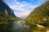 Nong Khiaw River, Northern Of Laos