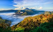Bromo volcano at sunriseTengger Semeru national park East Java Indonesia