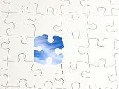 Puzzlespiel Loch Himmel