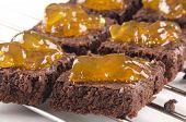 Brownie Baked With Orange Whiskey Marmalade