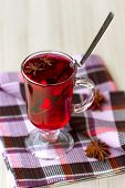 Red Tea (Hibiscus) and wafer rolls
