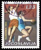 Postage Stamp Yugoslavia 1972 Basketball, Olympic Games, Munich