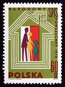 Postage Stamp Poland 1970 Polish National Census, 1970