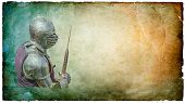 Armored Knight With Battle-axe - Retro Postcard