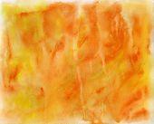 Handmade Orange Watercolor Texture