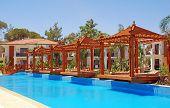 Pool And Wood Pergola