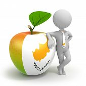 Apple With Cyprus Flag And Businessman