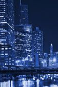Chicago Night In Blue