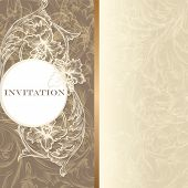 Luxury Invitation Card In Vintage Style