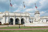 stock photo of amtrak  - Union Station as Historic Train Station and Landmark in Washington DC - JPG