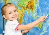 Child By World Map