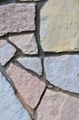 Stone Fence Background, Vertical Stonewall Closeup, Decorative Limestone Dolomite