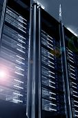 pic of png  - Modern Data Center with Lens Flare - JPG
