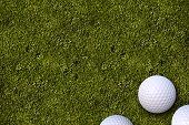 Golf Balls Golf Field
