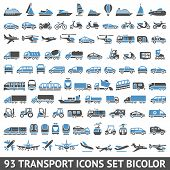 stock photo of dumper  - 93 Transport icons set bicolor  - JPG