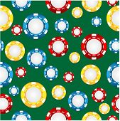 Seamless Pattern Of The Game Of Casino Chips