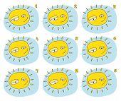 Match Pairs Visual Game: Sunshine