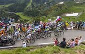 The Peloton In Pyrenees