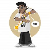 foto of rapper  - Illustration black guy  - JPG