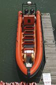 Orange Rib In Brighton Marina