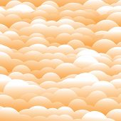 Abstract 3D Orange Evening Clouds Background (backdrop) - Vector Graphic
