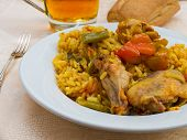Typical Spanish Paella Tapa.