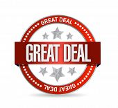 Great Deal Seal Illustration Design