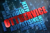 OTT Service.  Wordcloud Concept.