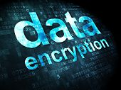 Privacy concept: Data Encryption on digital background