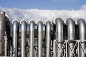 Geothermal Power Plant Pipes