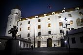 Night time at Bratislava castle