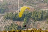 The thrill of flying paragliding mountain