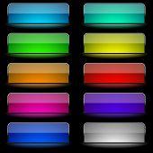 Glowing rectangular buttons