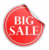 Big Sale Red Circle Label