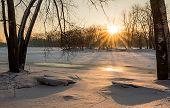 Frozen River Sunrise