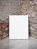 wall and blank poster
