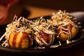 Takoyaki octopus balls - Japanese food, Takoyaki