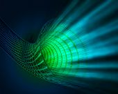 image of einstein  - 3d image of a wormhole  - JPG
