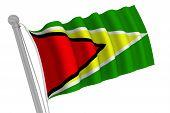 Guyana Flag On Pole