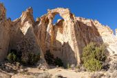 picture of arch foot  - Grosvenor Arch is a unique sandstone double arch located in southern Utah - JPG