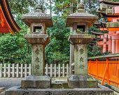 Stone lantern at Fushimi Inari-taisha shrine in Kyoto