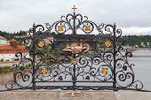 Shrine At Charles Bridge In Prague