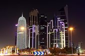 Doha Downtown At Night