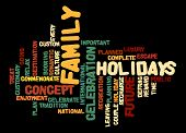 Family Holiday Word Cloud