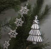 Christmas Decorations On The Twigs Of Pine