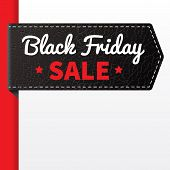Black Friday Sale Black Leather Badge