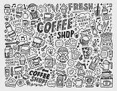 Doodle Coffee Element Background